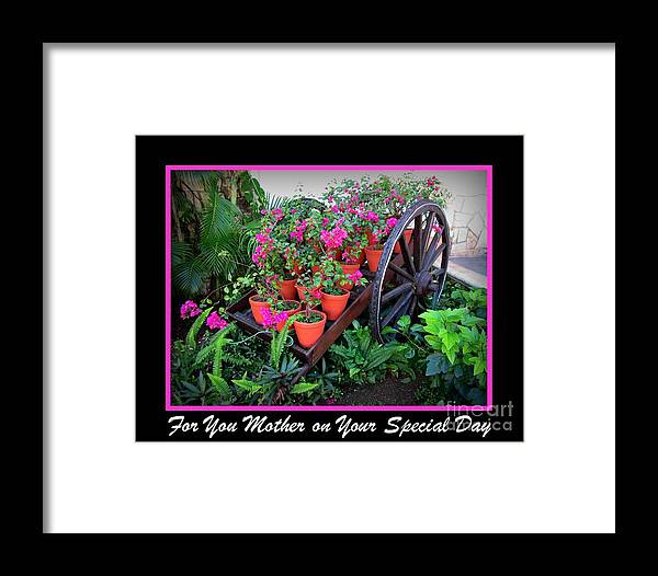 For You Mother Framed Print featuring the photograph For You Mother by John Malone