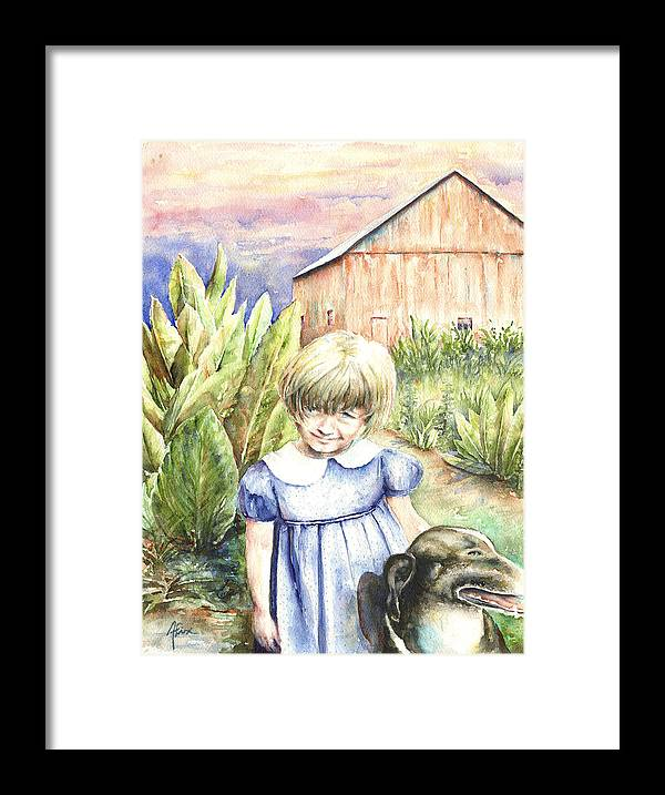 Watercolor Framed Print featuring the painting Forbes Road Farm by Arthur Fix