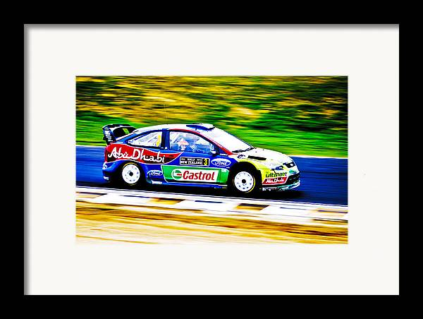 2010 Ford Focus Framed Print featuring the photograph Ford Focus Wrc by motography aka Phil Clark