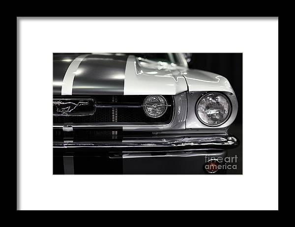 Wingsdomain Framed Print featuring the photograph Ford Mustang Fastback - 5D20342 by Wingsdomain Art and Photography