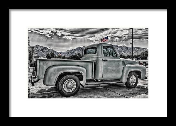 1954 Framed Print featuring the photograph Ford Side View Dramatic Ssc by Mitch Johanson