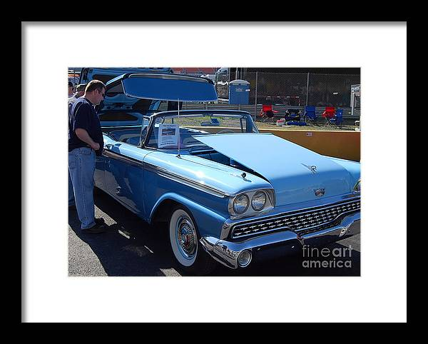 Classic American Car Framed Print featuring the photograph Ford Skyliner by Mark Spearman