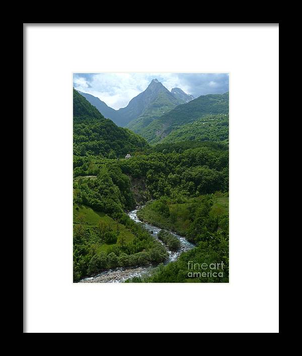 Forest Framed Print featuring the photograph Moraca River And Mountains by Phil Banks