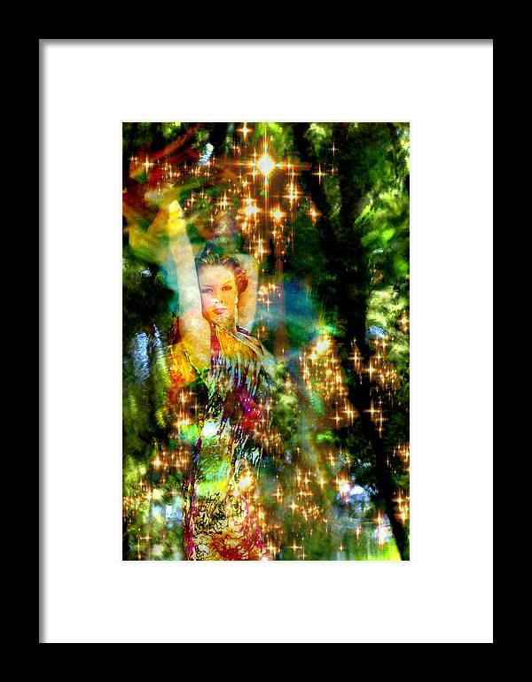 Forest Framed Print featuring the digital art Forest Goddess 4 by Lisa Yount