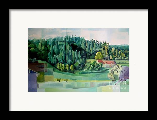 Forest Framed Print featuring the painting Forest Of L Hermitiere Or The Orchestra by Christian Simonian