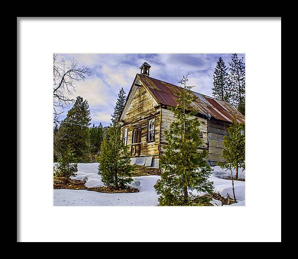 School Framed Print featuring the photograph Forestcity School House by William Havle