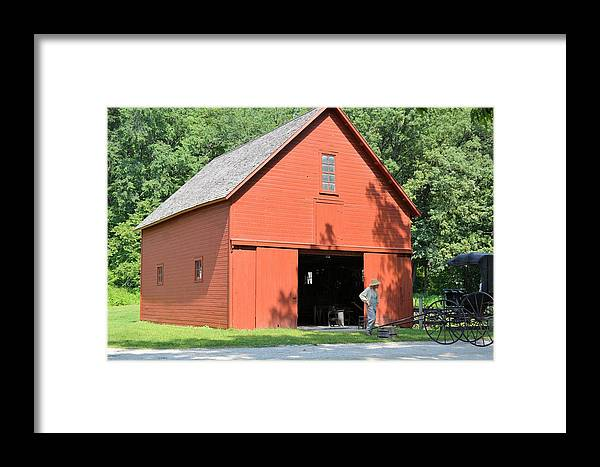 Barn Framed Print featuring the photograph Forestville Horse Barn 7904 by Bonfire Photography
