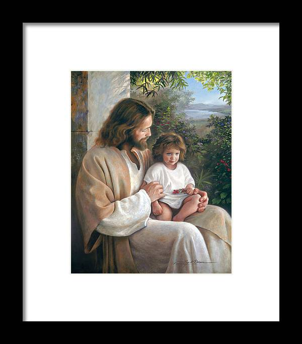 Jesus Framed Print featuring the painting Forever And Ever by Greg Olsen