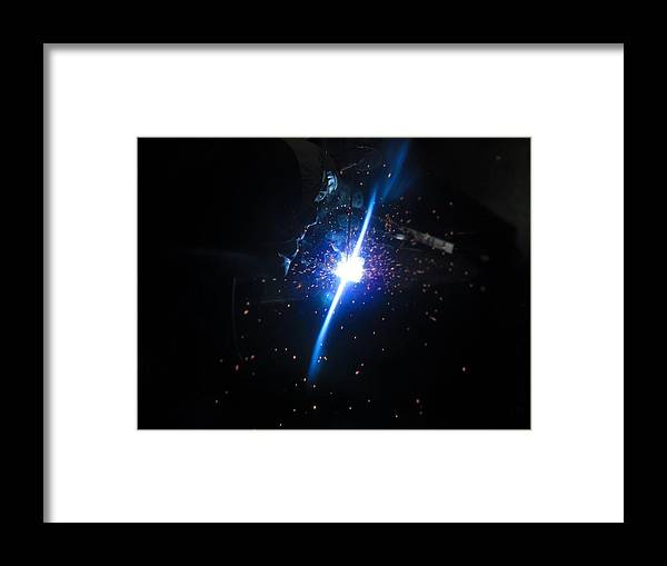 Welding Framed Print featuring the photograph Forge Of Light by Sabasion Bentley-Dyess