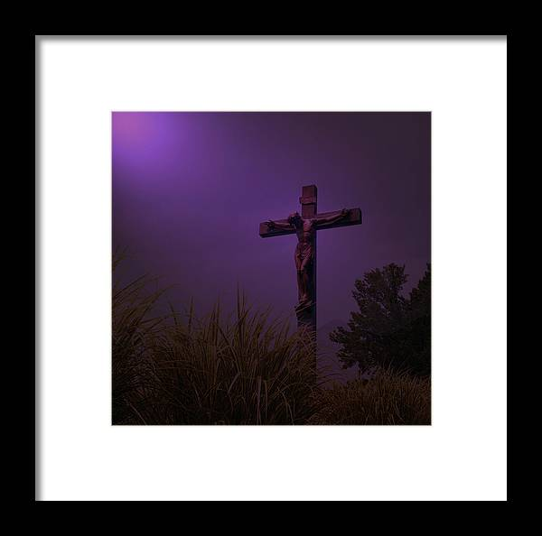 Forgive Them Framed Print featuring the photograph Forgive Them by Lawrence Costales