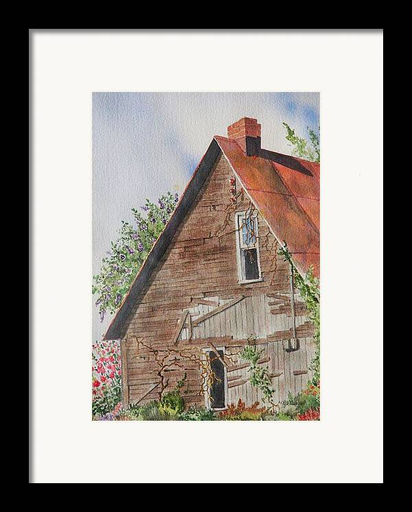 Farm Framed Print featuring the painting Forgotten Dreams Of Old by Mary Ellen Mueller Legault