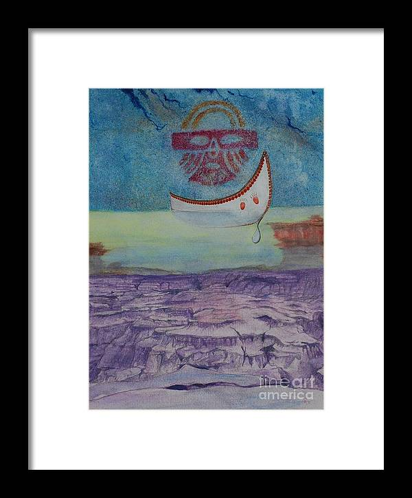 Hueco Tanks Pictographs Framed Print featuring the painting Forgotten Falls by GD Rankin