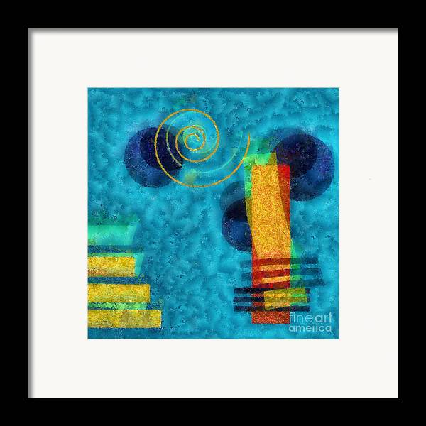 Forms Framed Print featuring the digital art Formes 02b by Variance Collections