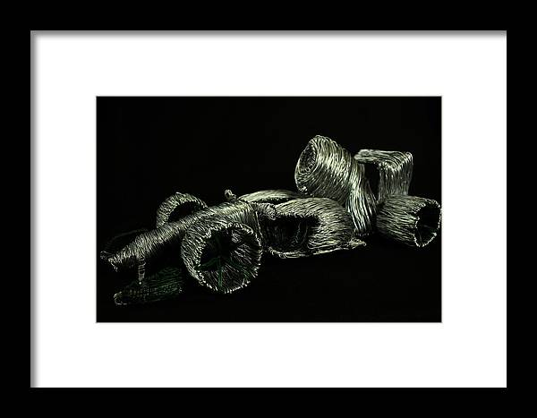 Troy Howard Framed Print featuring the sculpture Formula One by Troy Howard