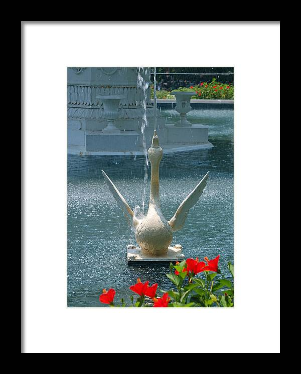 Forsyth Fountain Framed Print featuring the photograph Forsyth Fountain II Detail In Savannah Georgia by Suzanne Gaff