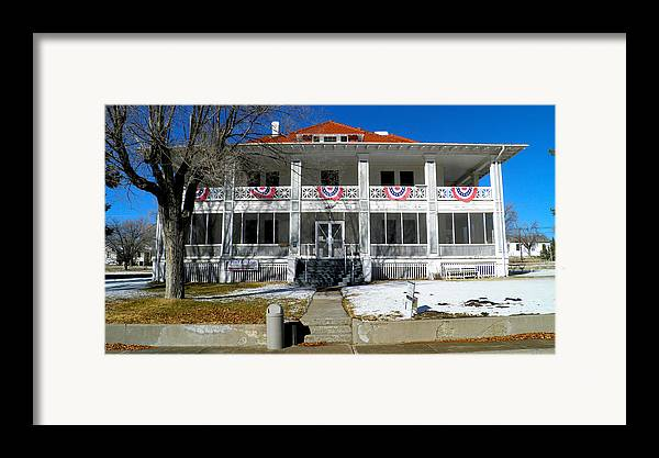 Fort Bayard Framed Print featuring the photograph Fort Bayard Commandant's House by Feva Fotos