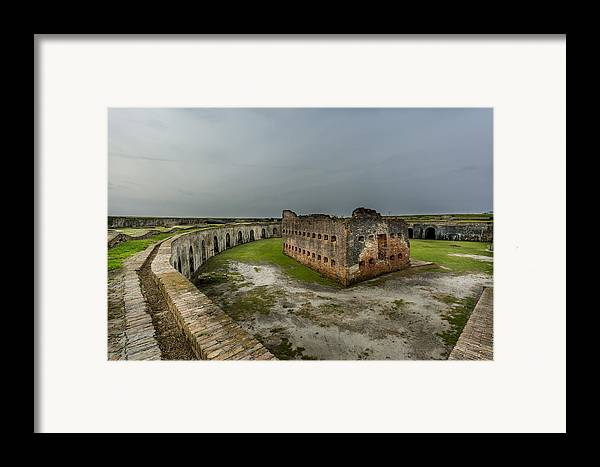 Fort Pike Framed Print featuring the photograph Fort Pike by David Morefield