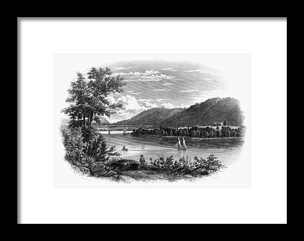 1847 Framed Print featuring the painting Fort Ticonderoga Ruins by Granger