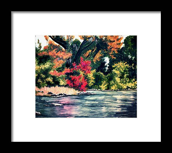 Fort Toulouse Framed Print featuring the painting Fort Toulouse Tallapoosa River Flair by Beth Parrish