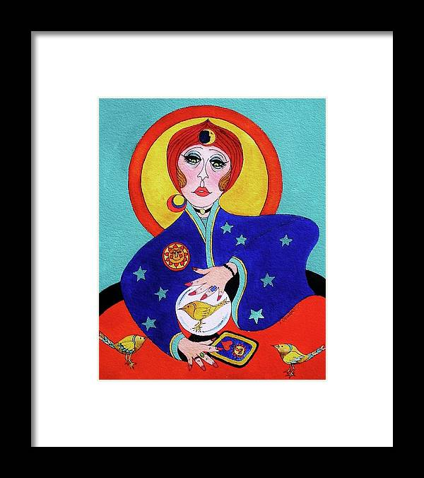 Fun Framed Print featuring the painting Fortunes Told Here-sold by Lou Cicardo