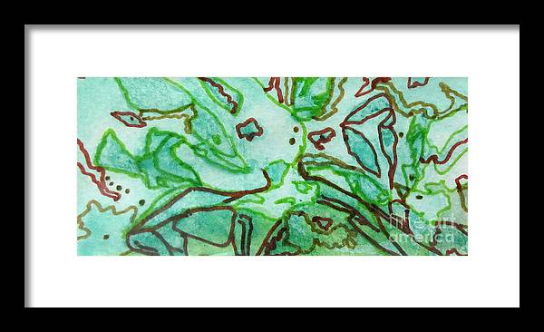 Colorful Framed Print featuring the painting Fossils by Jeanne Ward