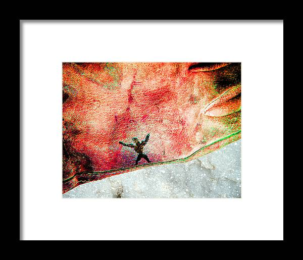 Work Gloves Framed Print featuring the photograph Found Art 2b by Bruce Iorio