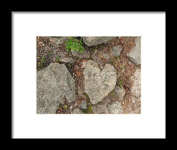 Heart Framed Print featuring the photograph Found Heart by Karen Kluglein
