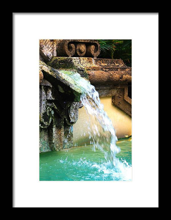 Water Framed Print featuring the photograph Fountain Of Youth by Elijah Gomez