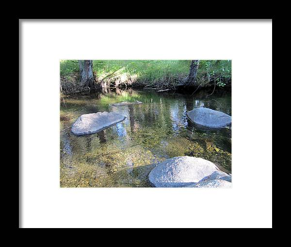 Four Rocks Framed Print featuring the photograph Four Rocks by Chris Gudger