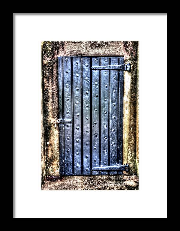 Fort Moultrie Framed Print featuring the photograph Fourt Moultrie Door by Dale Powell