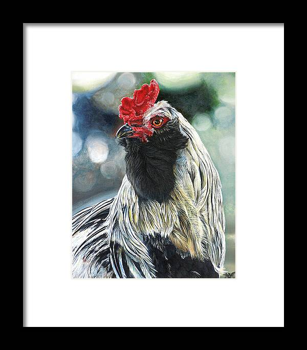Fowl Framed Print featuring the painting Fowl Martyr by Cara Bevan
