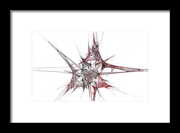 Fractal 057 Framed Print featuring the digital art Fractal 057 by Taylor Webb