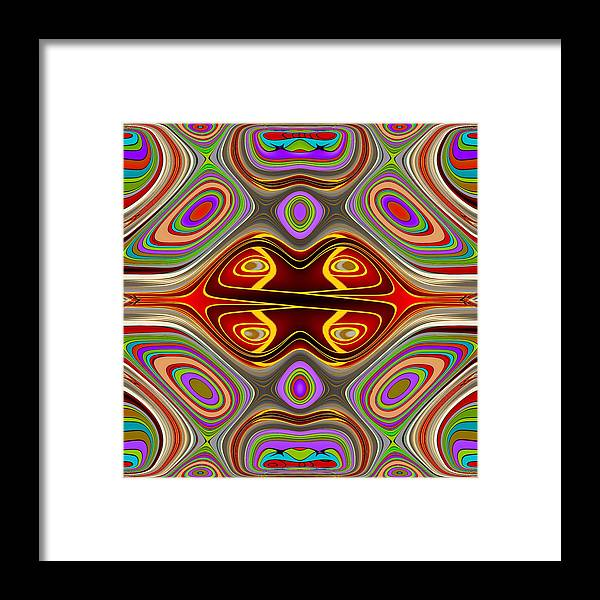 Fractal Art Framed Print featuring the digital art Fractal Displacement by Mario Carini