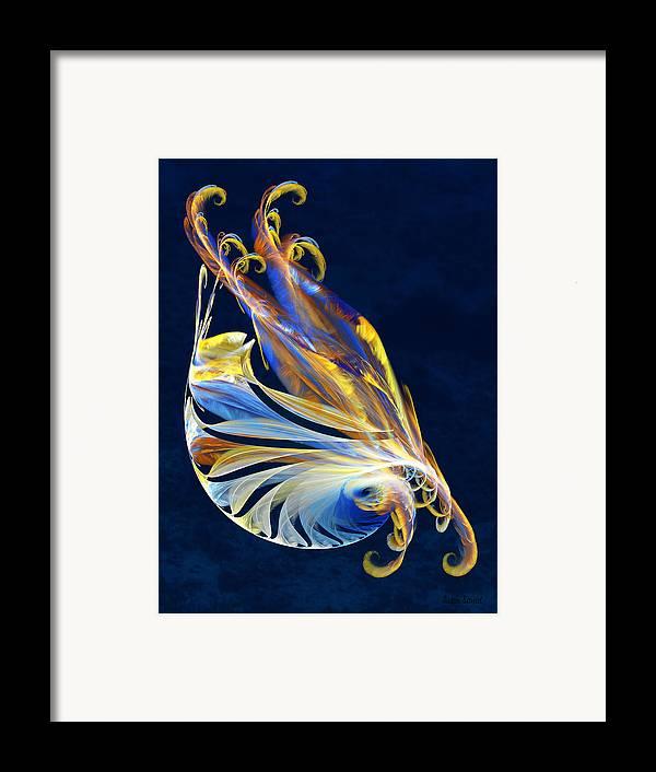 Fractal Framed Print featuring the digital art Fractal - Sea Creature by Susan Savad