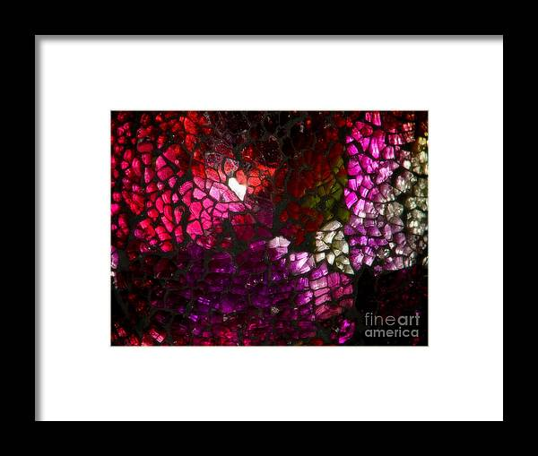 Abstract Framed Print featuring the photograph Fractured Color by Lew Davis