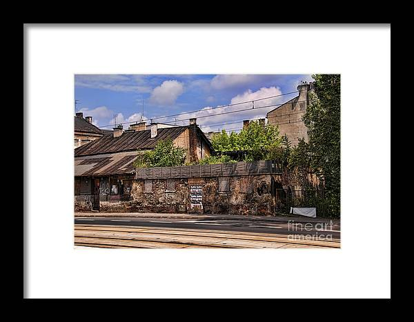 Krakow Framed Print featuring the photograph Fragment Of Ghetto Wall by Brenda Kean