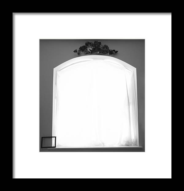 Frame Framed Print featuring the pyrography Frame On Edge by Cameron McManus