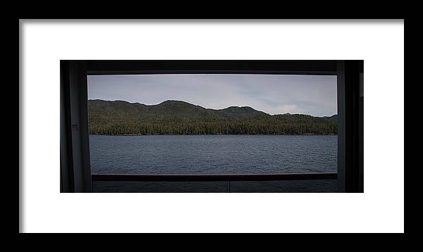 Inside Passage Framed Print featuring the photograph Framed by Marilyn Wilson