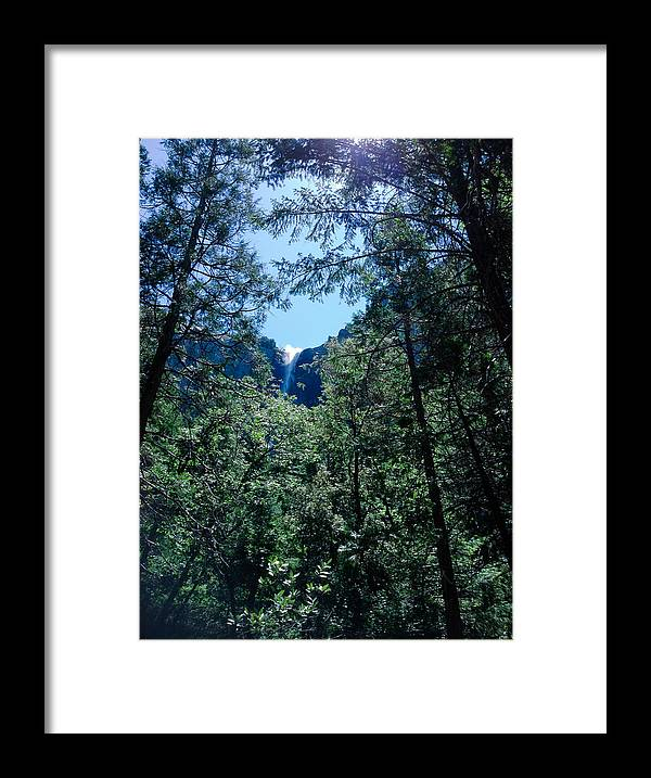 Framing A Waterfall Framed Print featuring the photograph Framing A Waterfall by JP McKim