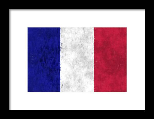 France Flag Framed Print by World Art Prints And Designs
