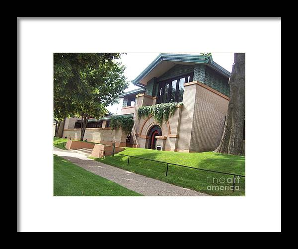 Frank Lloyd Wright Framed Print featuring the photograph Frank Lloyd Wright's Dana-thomas House by J Anthony Shuff