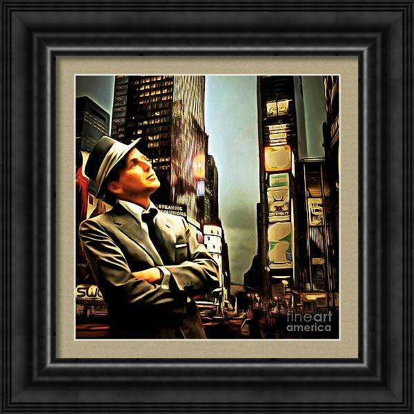 Frank Sinatra If I Can Make It Here New York 20150126brun square by Wingsdomain Art and Photography