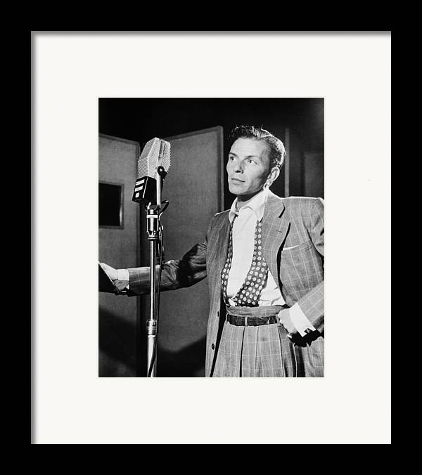 Frank Sinatra Framed Print featuring the photograph Frank Sinatra by Mountain Dreams