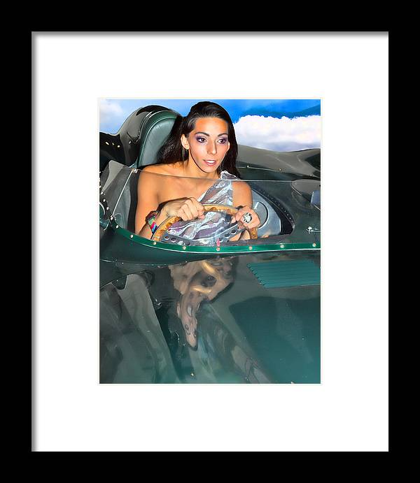 Model Framed Print featuring the photograph Frankie 2 by Joel Gilgoff