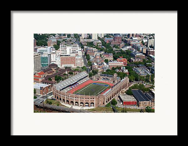 Franklin Field Framed Print featuring the photograph Franklin Field University City Pennsylvania by Bill Cobb