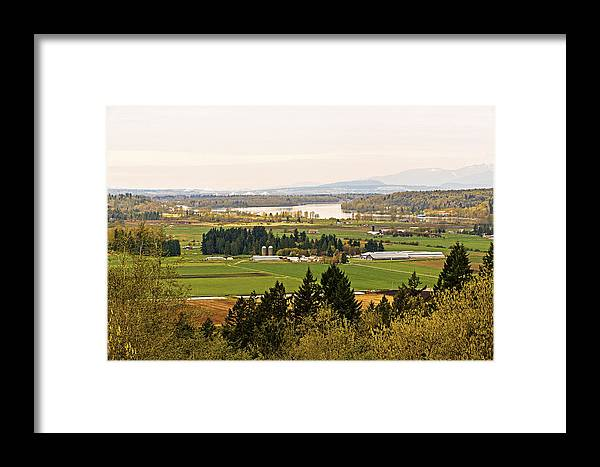 Canada Framed Print featuring the photograph Fraser Valley Toll Bridges by Paul W Sharpe Aka Wizard of Wonders