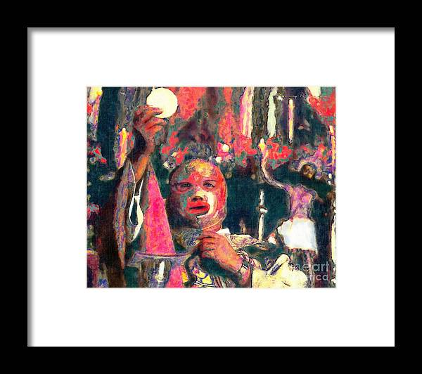 Religion Framed Print featuring the digital art Fray Tormenta by Nancy Almazan