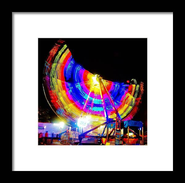 Framed Print featuring the photograph Freak Out ... Electric Rainbow by Daniel Thompson