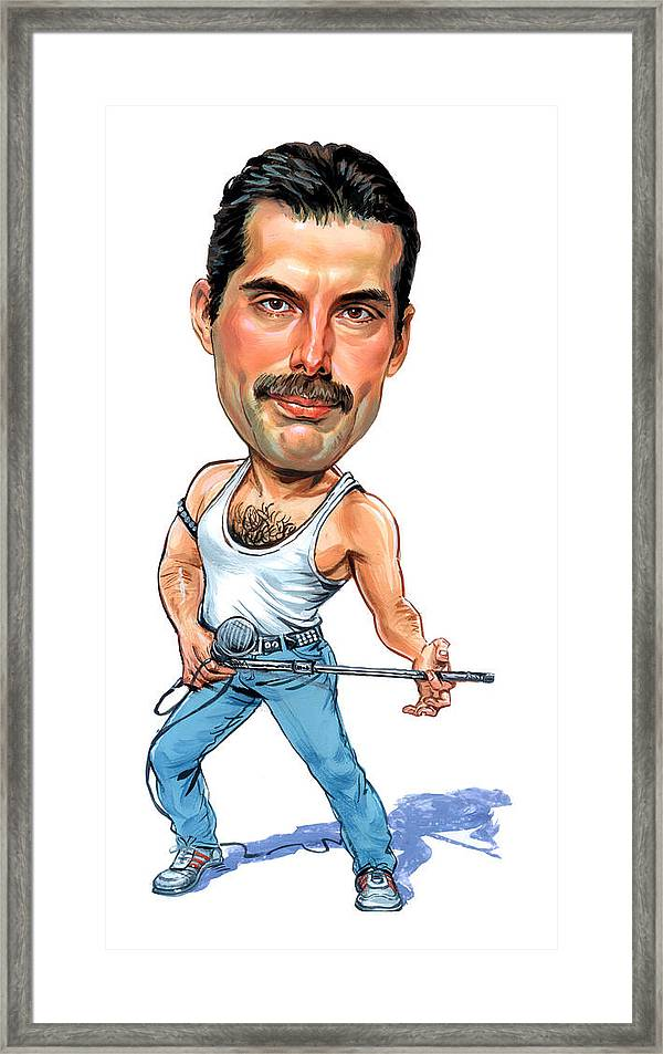 Freddie Mercury Framed Print By Art