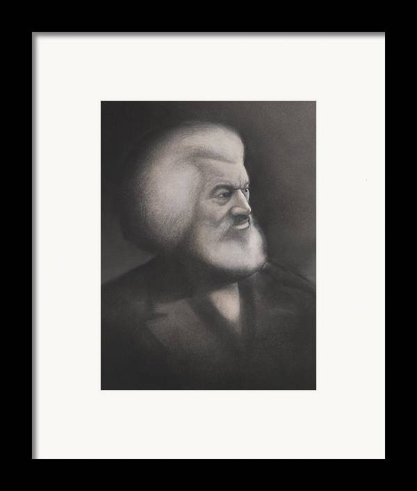 Frederick Douglass Framed Print featuring the pastel Frederick Douglass by Grady Simmons